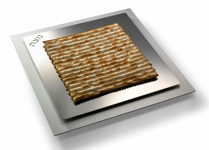 Square Steel Matzah Tray for Pesach